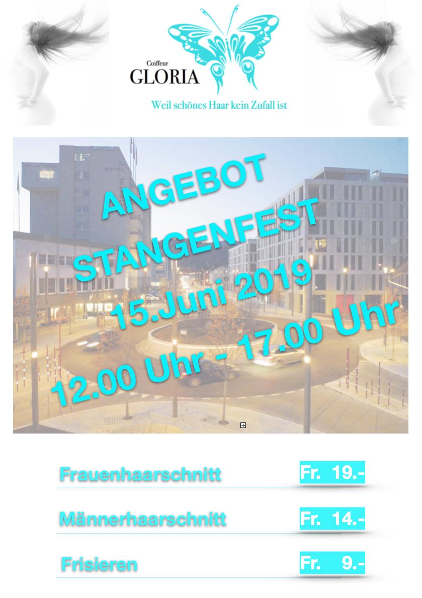 Stangenfest 2019 Widnau Coiffeur Gloria