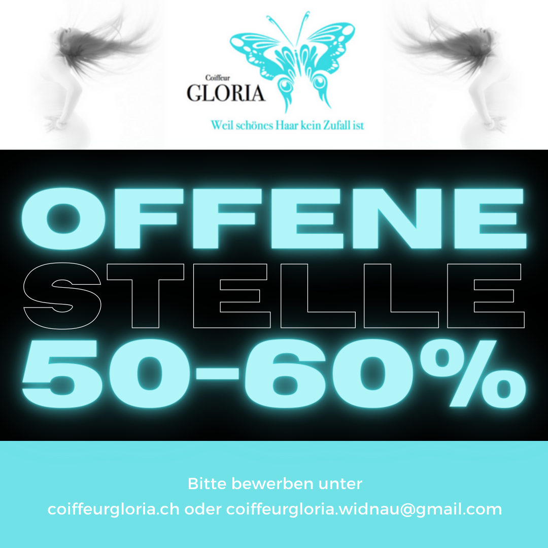 Offene Stelle Coiffeur/Coiffeuse EFZ/50-60% ab 01.05.2021